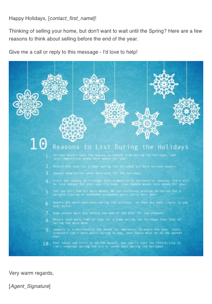 using this template in an email campaign