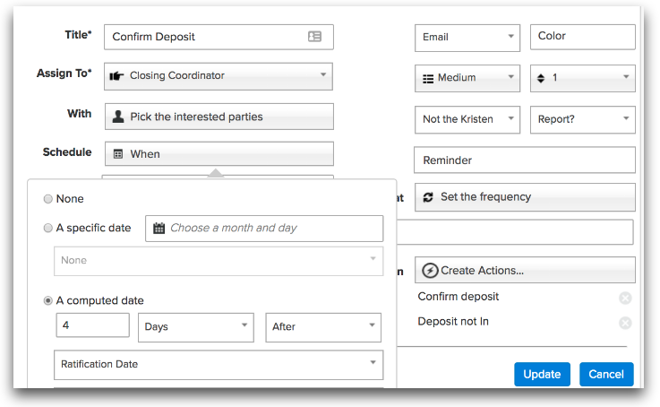 example of a workflow in a real estate crm