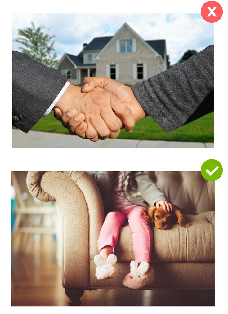phony stock photo vs authentic stock photo