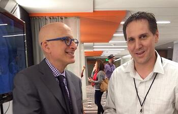Seth Godin and Jon Yourkin after keynote