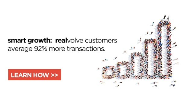 Realvolve customers average 92% more transactions. Learn how.